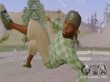The Grove Street gang member of GTA 5 for GTA San Andreas seventh screenshot