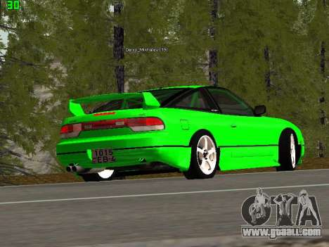 Nissan 240SX Drift Version for GTA San Andreas back left view