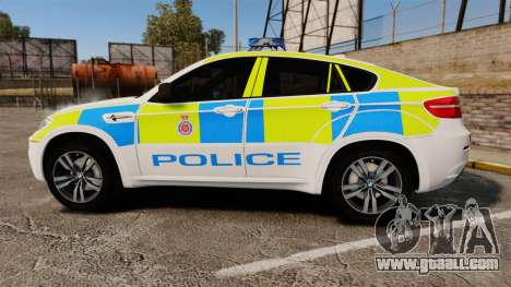 BMW X6 Lancashire Police [ELS] for GTA 4 left view