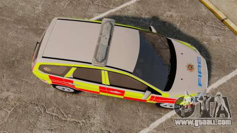 Ford Focus Estate 2009 Fire Car England [ELS] for GTA 4 right view