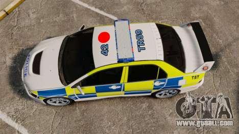 Mitsubishi Lancer Evolution IX Uk Police [ELS] for GTA 4 right view