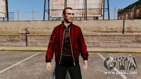 Red leather jacket for GTA 4