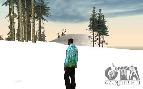 Sochi 2014 jacket for GTA San Andreas second screenshot
