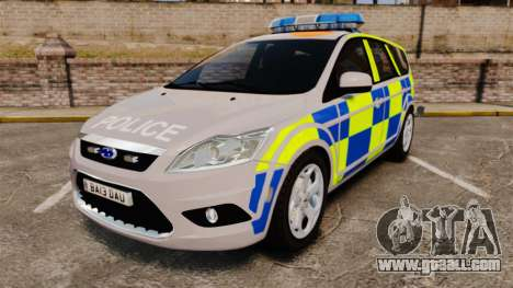 Ford Focus Estate 2009 Police England [ELS] for GTA 4