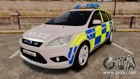 Ford Focus Estate 2009 Police England [ELS] for GTA 4