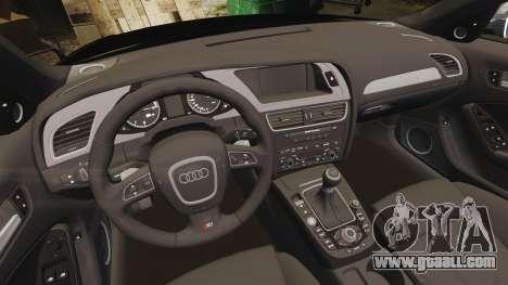 Audi S4 Police [ELS] for GTA 4 inner view