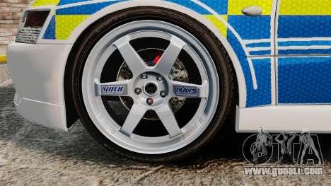 Mitsubishi Lancer Evolution IX Uk Police [ELS] for GTA 4 back view