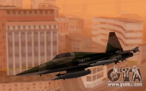 F-5 Tiger II for GTA San Andreas back left view
