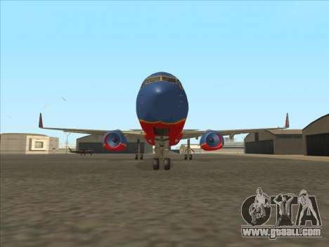 Boeing 737 Southwest Airlines for GTA San Andreas inner view