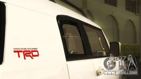 Toyota FJ Cruiser 2012 for GTA San Andreas right view
