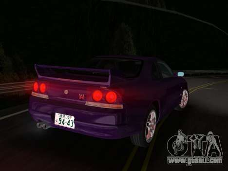 Nissan SKyline GT-R BNR33 for GTA Vice City right view