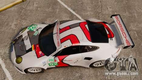 Porsche 911 (991) RSR for GTA 4 right view
