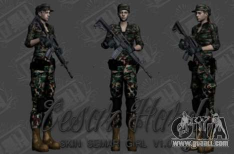 Pak skins girls for GTA San Andreas sixth screenshot