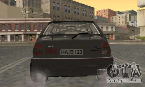 Ford Fiesta Mk3 XR2i for GTA San Andreas back view