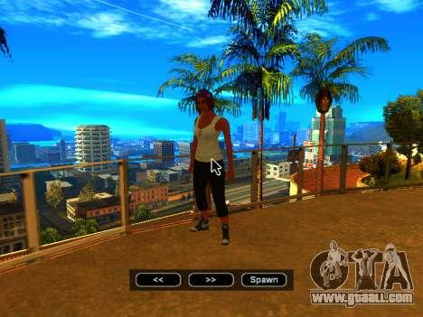 Pak skins girls for GTA San Andreas tenth screenshot