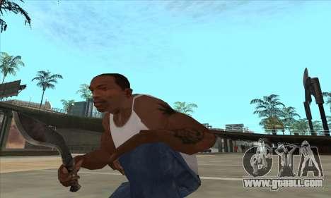 Kukri knife-machete for GTA San Andreas third screenshot