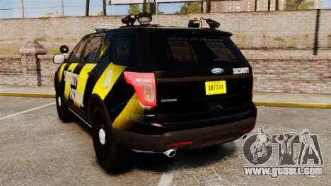 Ford Explorer 2013 Security Patrol [ELS] for GTA 4 back left view