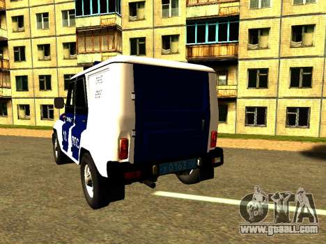 UAZ Hunter PPP for GTA San Andreas back left view