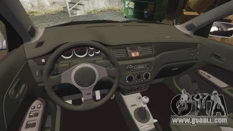 Mitsubishi Lancer Evolution IX Uk Police [ELS] for GTA 4 inner view