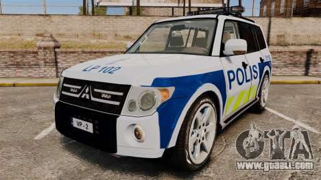 Mitsubishi Pajero Finnish Police [ELS] for GTA 4
