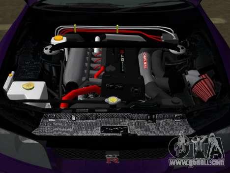 Nissan SKyline GT-R BNR33 for GTA Vice City upper view