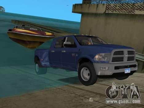Dodge Ram 3500 Laramie 2012 for GTA Vice City interior