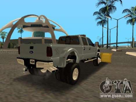 Ford F-450 for GTA San Andreas back view