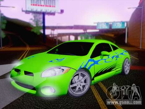 Mitsubishi Eclipse v4 for GTA San Andreas upper view