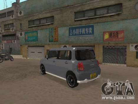 Suzuki Alto Lapin for GTA San Andreas inner view