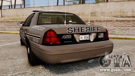 Ford Crown Victoria 2008 Sheriff Patrol [ELS] for GTA 4 back left view
