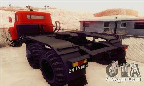 KrAZ 260v for GTA San Andreas back view