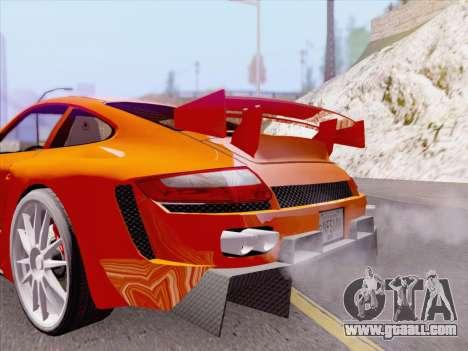 Porsche Carrera S for GTA San Andreas interior