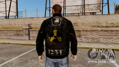 Black jacket made of recycled leather for GTA 4 second screenshot