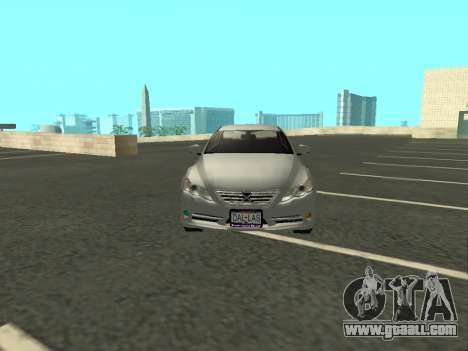 Toyota Mark X for GTA San Andreas inner view