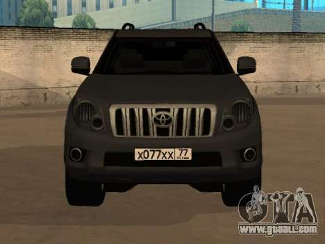 Toyota Land Cruiser Prado 2012 for GTA San Andreas back left view