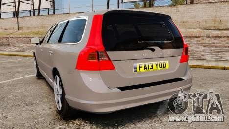 Volvo V70 Unmarked Police [ELS] for GTA 4 back left view