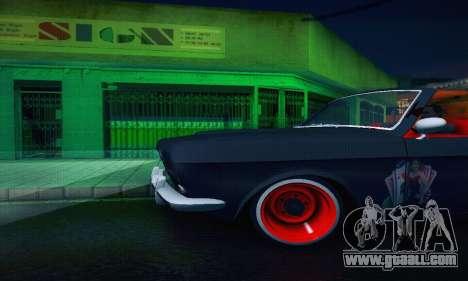 GAZ Volga 24 Cabriolet for GTA San Andreas upper view