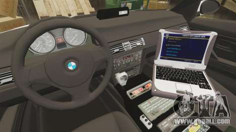 BMW 330i Ambulance [ELS] for GTA 4 back view