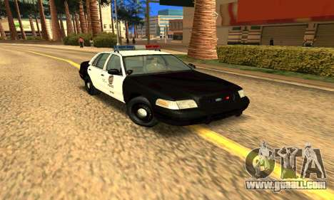 Ford Crown Victoria Police LV for GTA San Andreas back view