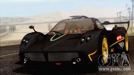 Pagani Zonda R SPS v3.0 Final for GTA San Andreas back view