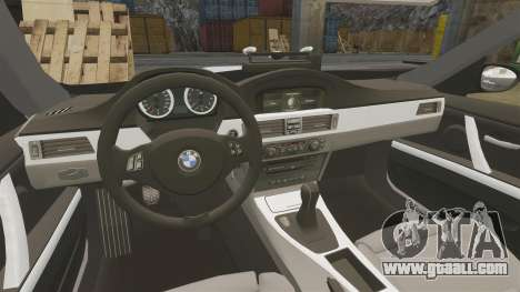 BMW M3 Unmarked Police [ELS] for GTA 4 inner view