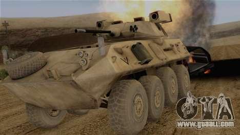 LAV-25 Desert Camo for GTA San Andreas back view