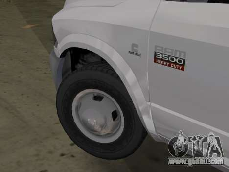 Dodge Ram 3500 Laramie 2012 for GTA Vice City back left view