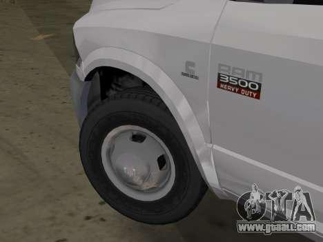 Dodge Ram 3500 Laramie 2012 for GTA Vice City back left view