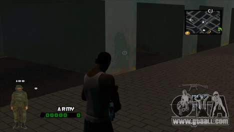 C-HUD Army for GTA San Andreas second screenshot