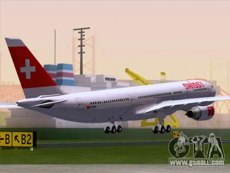 Airbus A330-223 Swiss International Airlines for GTA San Andreas back left view