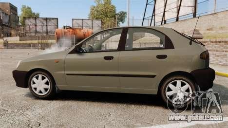 Daewoo Lanos S PL 2001 for GTA 4 left view