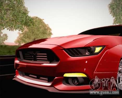 Ford Mustang Rocket Bunny 2015 for GTA San Andreas wheels