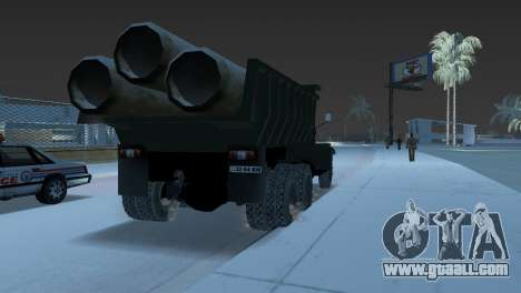 KrAZ 255 dump truck for GTA Vice City back left view