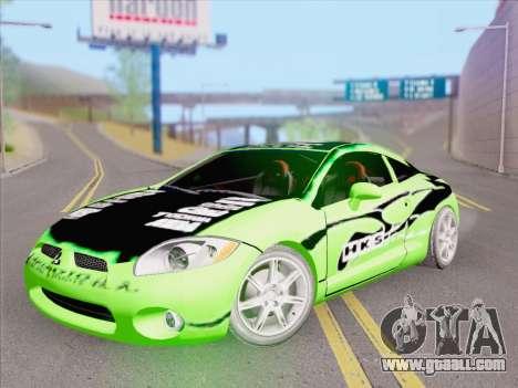 Mitsubishi Eclipse v4 for GTA San Andreas interior